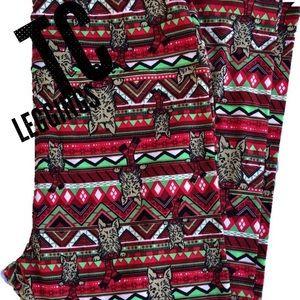 LuLaRoe TC Christmas leggings